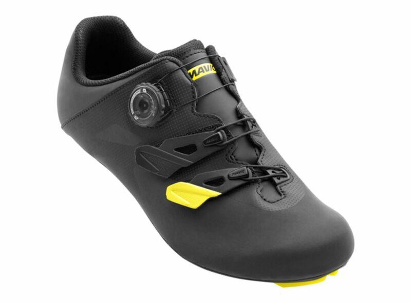 Mavic Cosmic Elite Vision CM Road Shoe - Black-Yellow Mavic