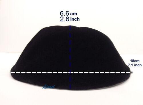 XL Large Black Velvet Jewish Kippah Orthodox Yarmulka/Kippa/Yamaka Skull Cap/Hat