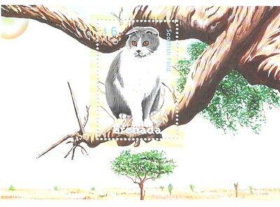 GRENADA - CATS, 2000 - SC 3059 S/S MNH
