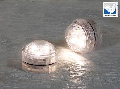 LED Teelichter 1 St mit je 3 SMD-LEDs weiß Tauchlicht wasserdicht Taschenlampe