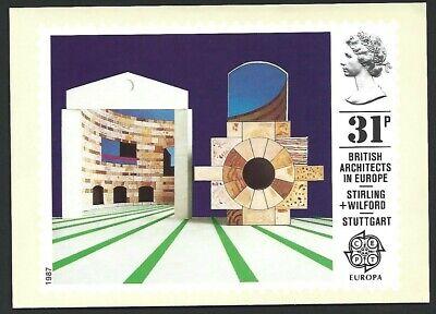 GB 1987 British Architects In Europe Stamp Card unused