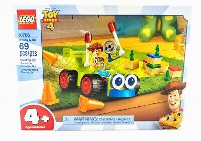 LEGO 10766 Toy Story 4 Woody & RC Car Set Green Army Men Preschool Building Toy