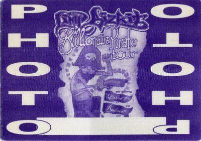 LIMP BIZKIT 1999 Pirate Concert Tour Backstage Pass!!! Authentic Original OTTO