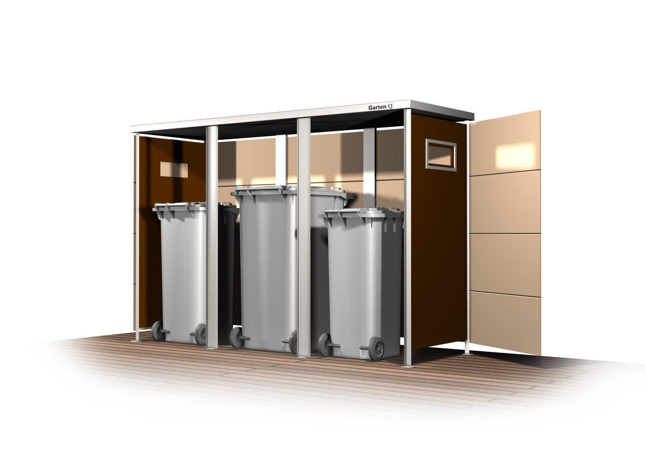 design m lltonnenhaus m lltonnenbox modern 2 tonnen 3. Black Bedroom Furniture Sets. Home Design Ideas