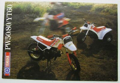 YAMAHA PW50 PW80 YT60 Range Motorcycle Sales Brochure c1985