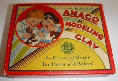 - Vintage New Amaco Modeling Clay #7W Four Colors Unused American Art Clay Co.