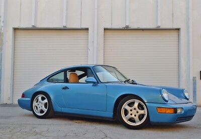 1991 Porsche 911 Carrera 2 964 Coupe Rare Tahoe Blue - CUP Wheels - C2 - Clean history - Service Records - Cali Car