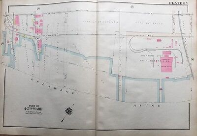 ORIGINAL 1925 RICHMOND STATION PHILADELPHIA ELECTRIC COMPANY, PLAT ATLAS MAP