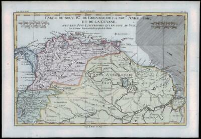 1780 Antique Map of NORTHERN SOUTH AMERICA PANAMA ECUADOR SURINAM by Bonne (16)