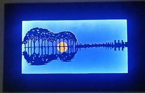 Original LED tree / guitar lightbox Holden Hill Tea Tree Gully Area Preview