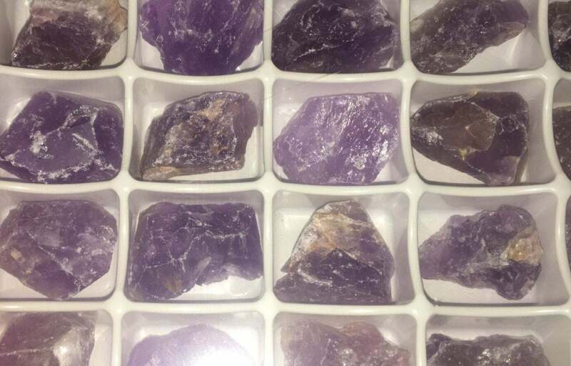 Bulk Wholesale Lot 24 Piece Flat - Purple Amethyst - Rough Raw Stones Natural