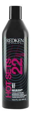 Redken Hot Sets 22 Thermal Setting Mist 16.9 oz 500 ml. Hair Styling Product Thermal Hair Products