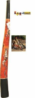 ABORIGINAL STYLE DIDGERIDOO HARDWOOD BEAUTIFULLY HAND PAINTED 120CM NEW OY