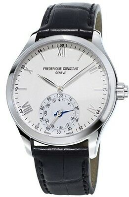 Frederique Constant Horological Smart Watch FC-285S5B6 Black Leather Band Men's