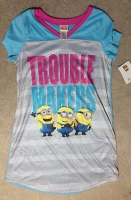 Despicable Me 3 Girls Trouble Makers Nightgown    Size 10  New