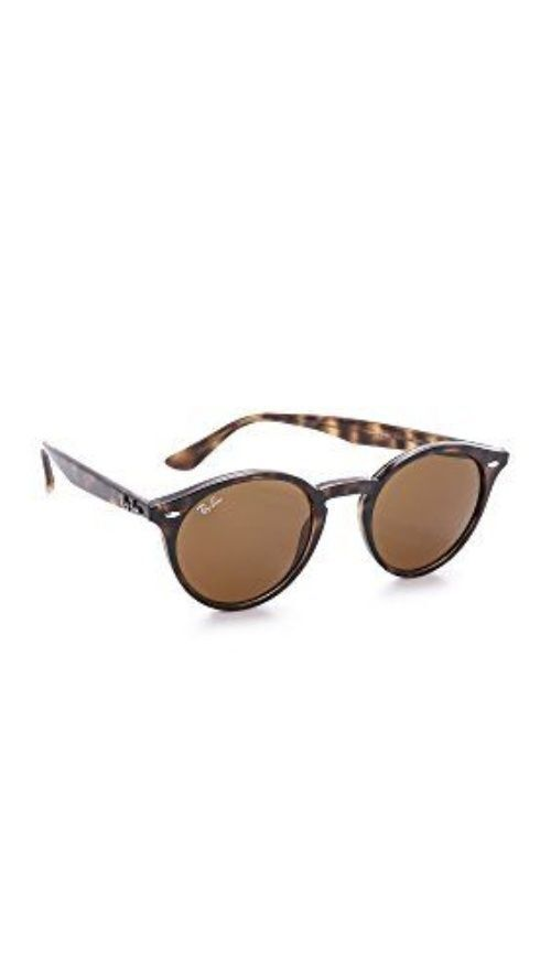 ray ban rb2180 round framed sunglasses tortoise  ray ban rb2180 women's sunglasses with brown classic b 15 lenses and tortoise frame