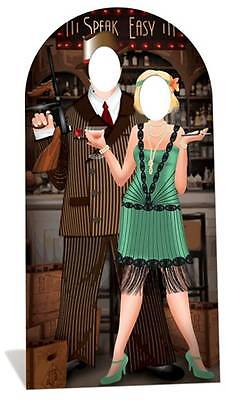 1920s Cardboard Cutouts (Roaring 1920s Speakeasy LIFESIZE CARDBOARD STAND-IN Cutout - Gangsters and)