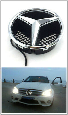 - Illuminated LED Light Snap-in Front Grille Star Emblem Badge Mercedes Benz W204