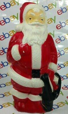 "VINTAGE EMPIRE PLASTIC CORP CHRISTMAS SANTA CLAUSE BLOW MOLD 13"" LIGHT UP 1968"