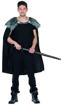 Wolfskrieger Cape Herren Kostüm Umhang Krieger Wikinger Karneval Fasching