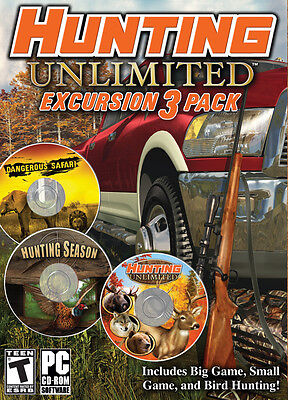 Computer Games - Hunting Unlimited Excursion 3 Pack PC Games Windows 10 8 7 XP Computer deer NEW