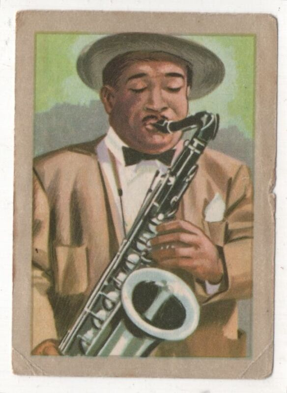 """1840s """"Adolphe"""" Sax  Invents Saxiphone Musical Instruments Vintage Trade Card"""