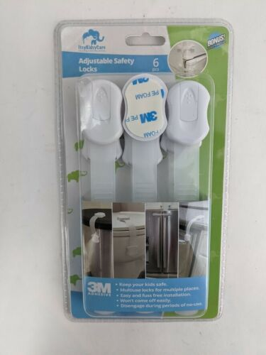 Child Safety Strap Locks 6 Pack Drawer Locks Baby Proofing, Refrigerator Lock