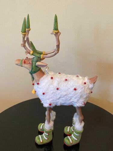 "MacKenzie-Childs Patience Brewster Krinkles Dashaway Blitzen Reindeer Figure 12"""