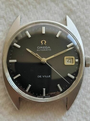 Selling a Used Vintage Omega DeVille with Black Dial WristWatch in a SS Case