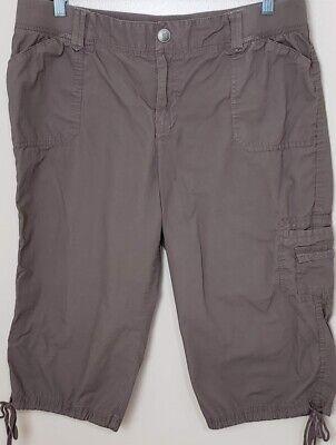 Croft & Barrow Womens Casual Capri Pants Stretch Waistband - Lt. Brown - Size 18