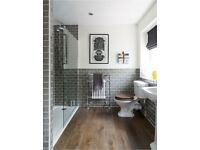 Vinyl flooring supplied and fitted to your bathroom for £150