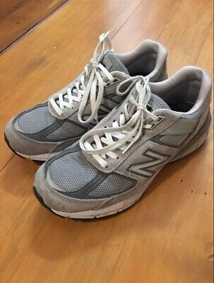 New Balance 990 v5 B Grey Made In USA Women Running Casual Shoes