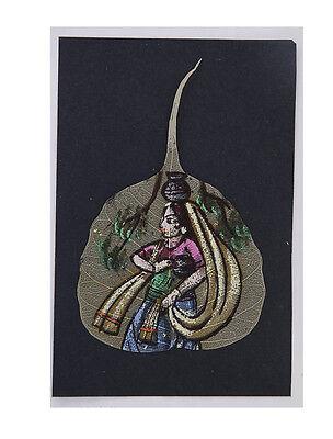 Painting Card Postcard Sheet Pipal Bodhi Woman C