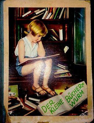 """""""Der Kleine Bücherwurm-Von Früh Bis Spät"""" Bilderbuch Antik"""