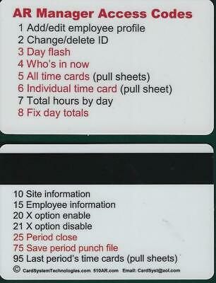 570ar Badgepin Entry Digital Employee Time Clock Internal Printer Standalone