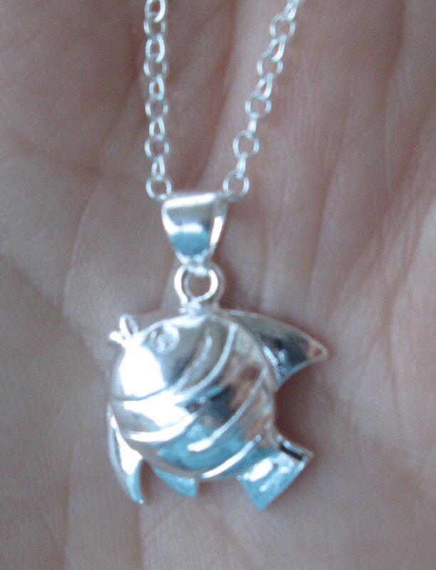 Sterling Silver Tropical Fish Necklace