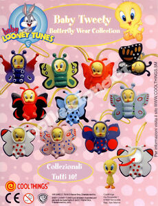 Baby-Looney-Tunes-Baby-Tweety-Butterfly-Wear-GASHAPON-10-PEZZI-COOL-THING-039