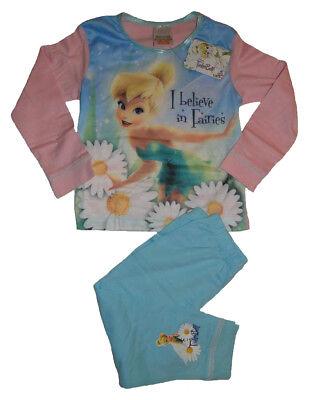 Tinkerbell Mädchen Pyjamas (Disney Fairy Tinkerbell langarm Pyjama Schlafanzug für Mädchen Faries Kinder )