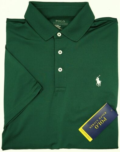 NEW $89 Polo Ralph Lauren Short Sleeve Green Shirt Mens Performance ThermoVent