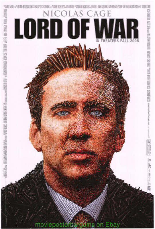 LORD OF WAR MOVIE POSTER Original SS 27x40 Final Style NICOLAS CAGE