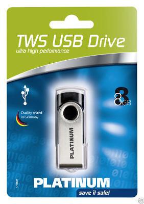 Platinum TWS 8 GB USB-Stick USB 2.0 schwarz 177560