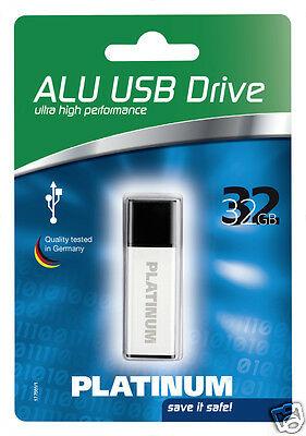 Platinum Alu 32 GB USB-Stick USB 2.0 silber 177561