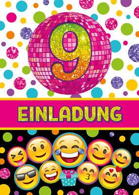 Einladungskarten Einladungen 9 Geburtstag neunte Kindergeburtstag Mädchen