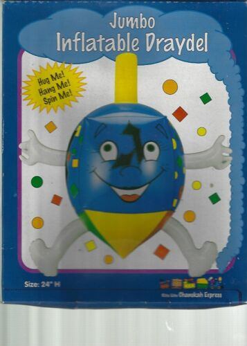 "Jumbo Inflatable Draydel Dreidel Chanukah Express 24"" Brand NEW in Box Very RARE"