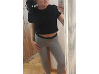 Stretchy tartan print Zara leggings