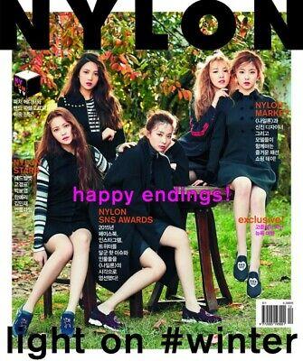 NYLON RED VELVET COVER KOREA ISSUE MAGAZINE 2015 DEC DECEMBER NEW
