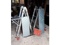 Heavy duty platform ladders with steps