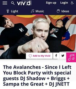 Avalanches Tickets Sunday 28th opera house Caringbah Sutherland Area Preview