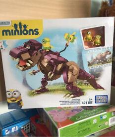 Minions mega bloks dinosaur. Brand nee