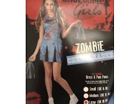 Girls Halloween Zombie Cheerleader Costume 16-18 Year Old new